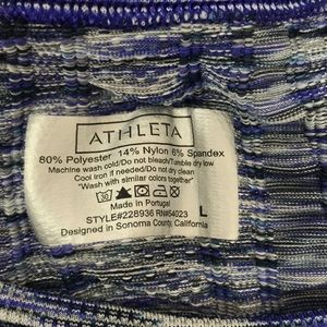 Athleta Tops - Athleta-Fastest Track space dye, purple/gray, L